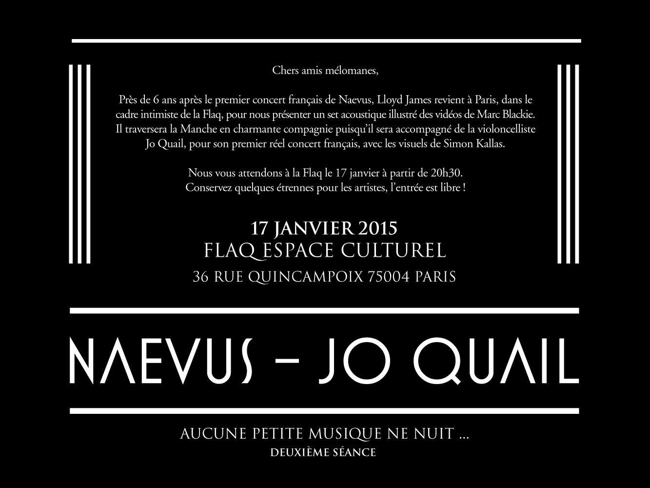 Paris Concert 17th January 2015