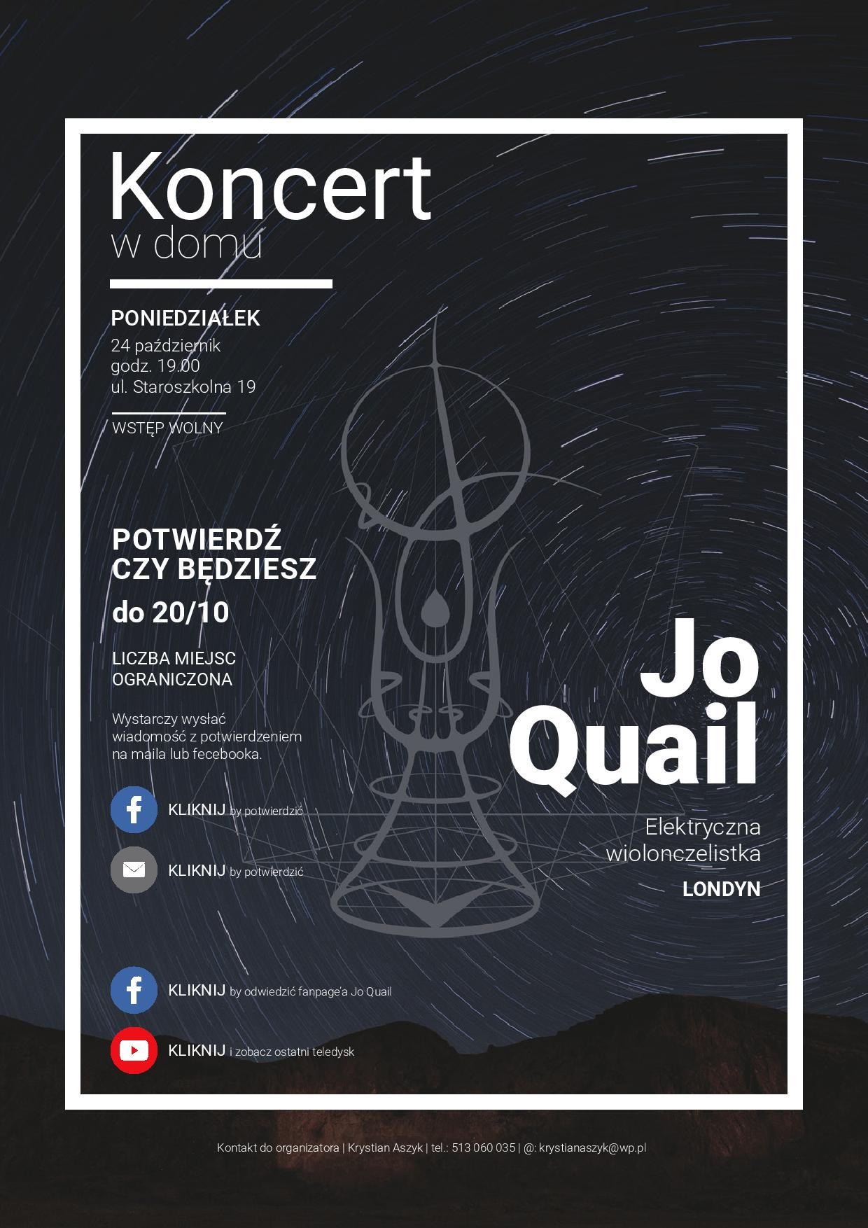 Chojnice Concert, Poland – please email krystianaszyk@wp.pl for an invitation!