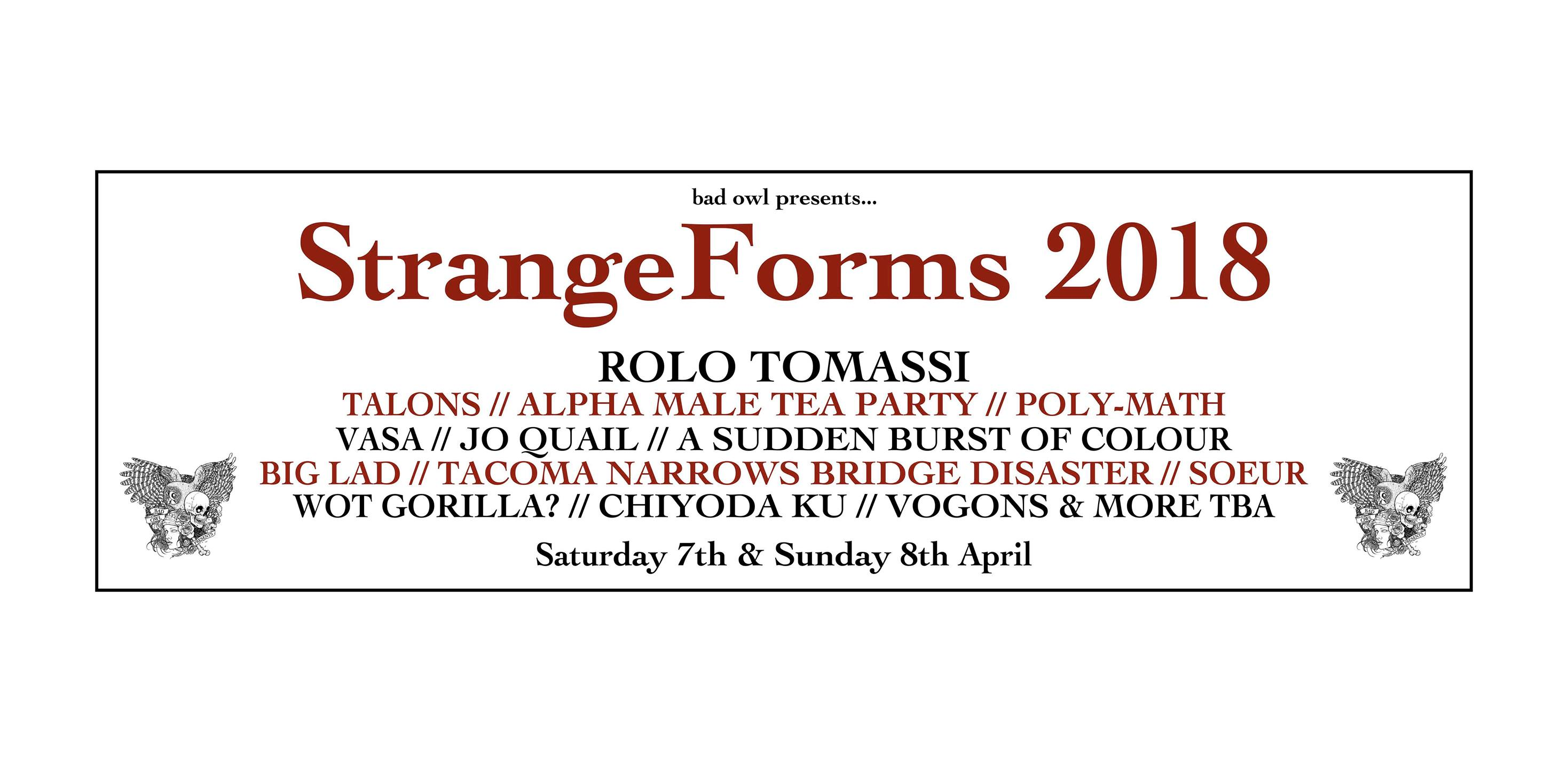 Stangeforms Leeds 2018 7th – 8th April 2018