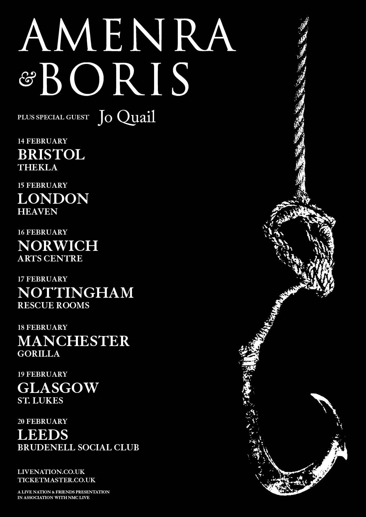 Leeds supporting Amenra and Boris
