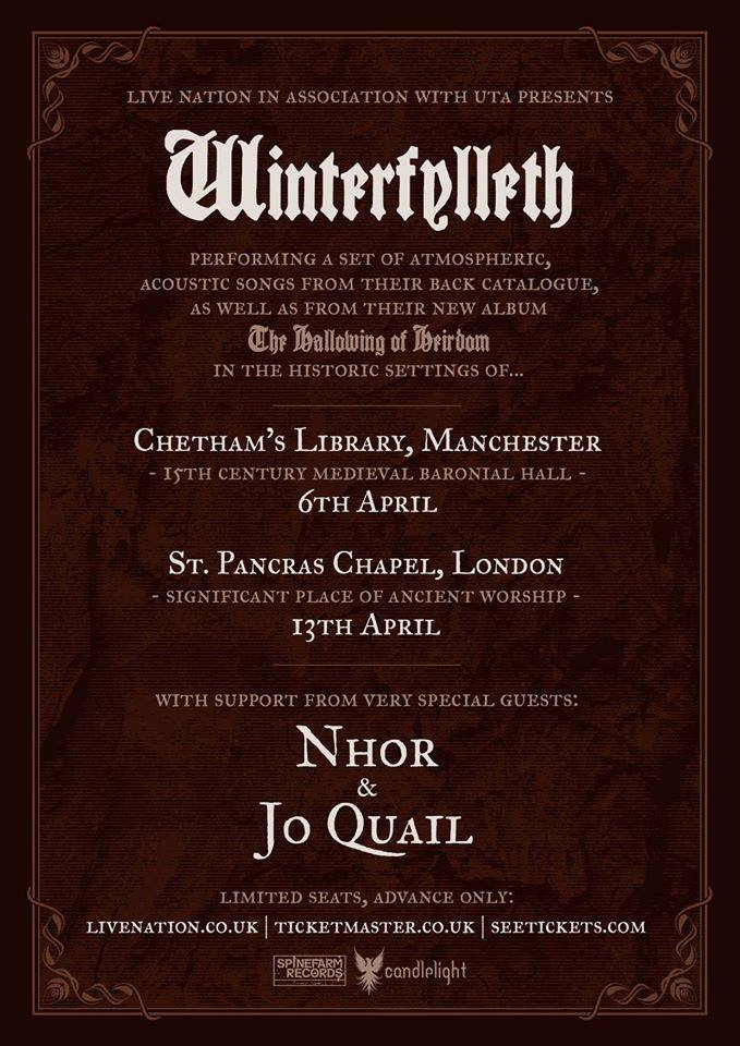 St Pancras Old Church supporting and performing with Winterfylleth