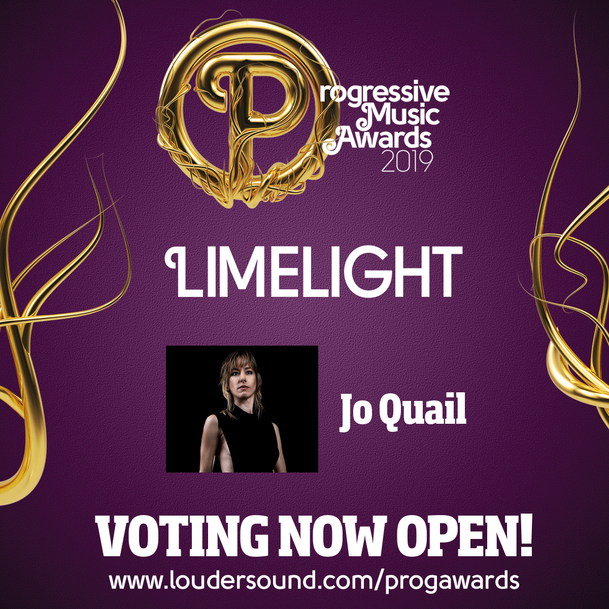 Prog Limelight Award 2019! I'm so honoured to be included in this list. Please vote here www.loudersound.com/progawards