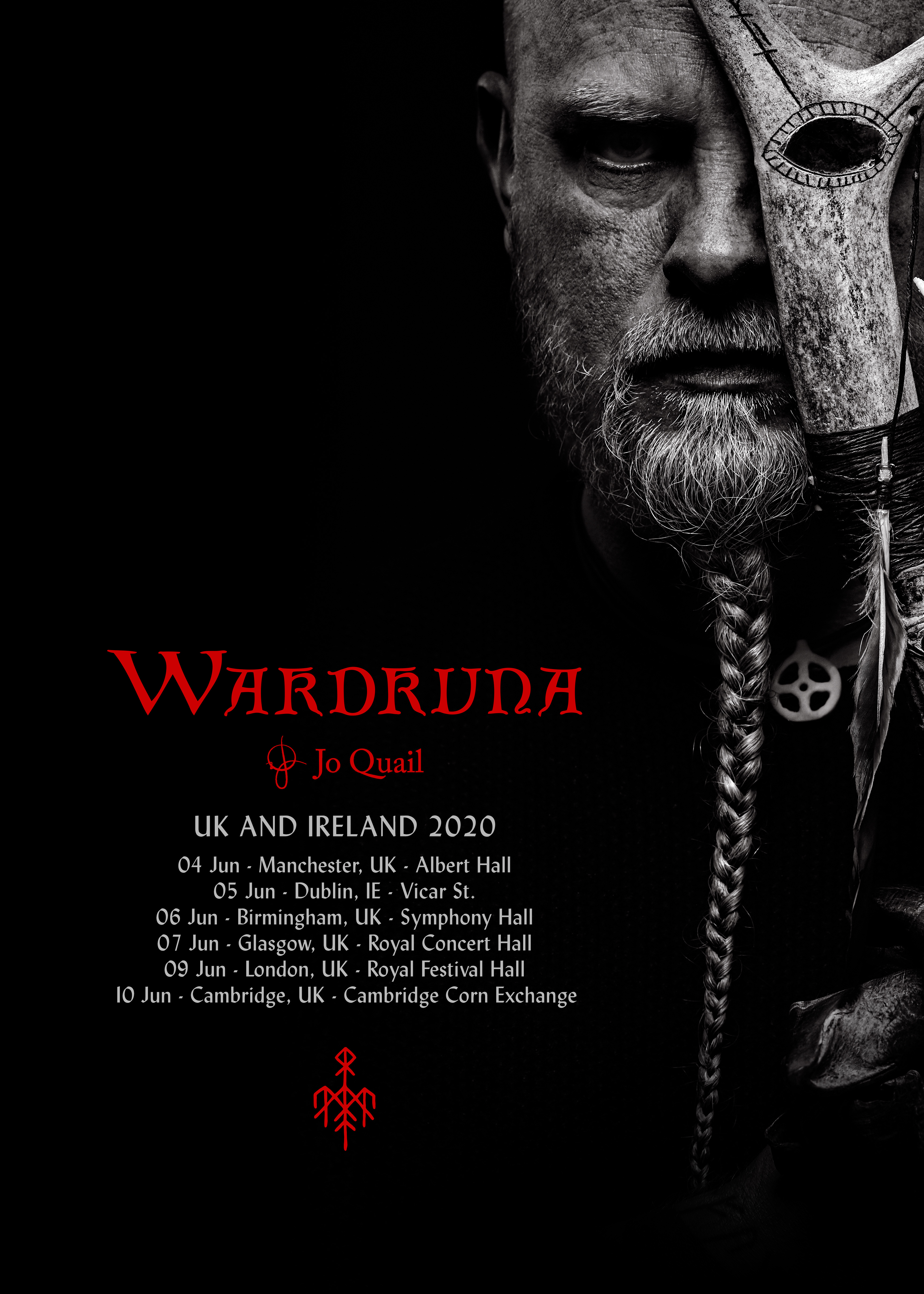 UK Tour with Wardruna – I'm delighted to have been invited to support Wardruna in June in the UK, and I hope to see you at one of these beautiful venues.