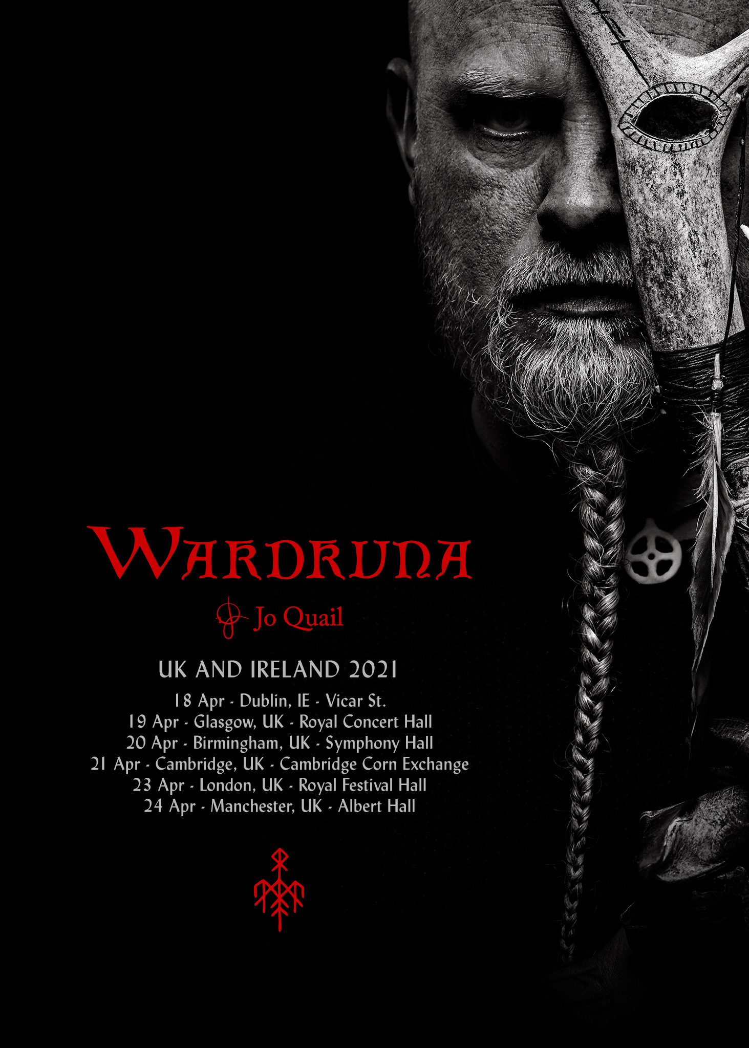 Wardruna UK and EU tour rescheduled for April 2021, all tickets remain valid. See you then!