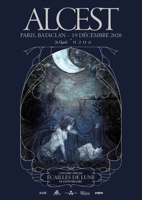 New concert date! December 19th 2020 Paris Bataclan w Alcest – I hope you can join us for this very special evening. Also performing will be Gold (NL).
